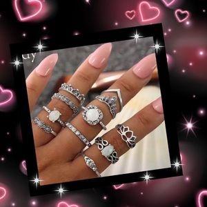 11 pc beautiful bohemian ring set